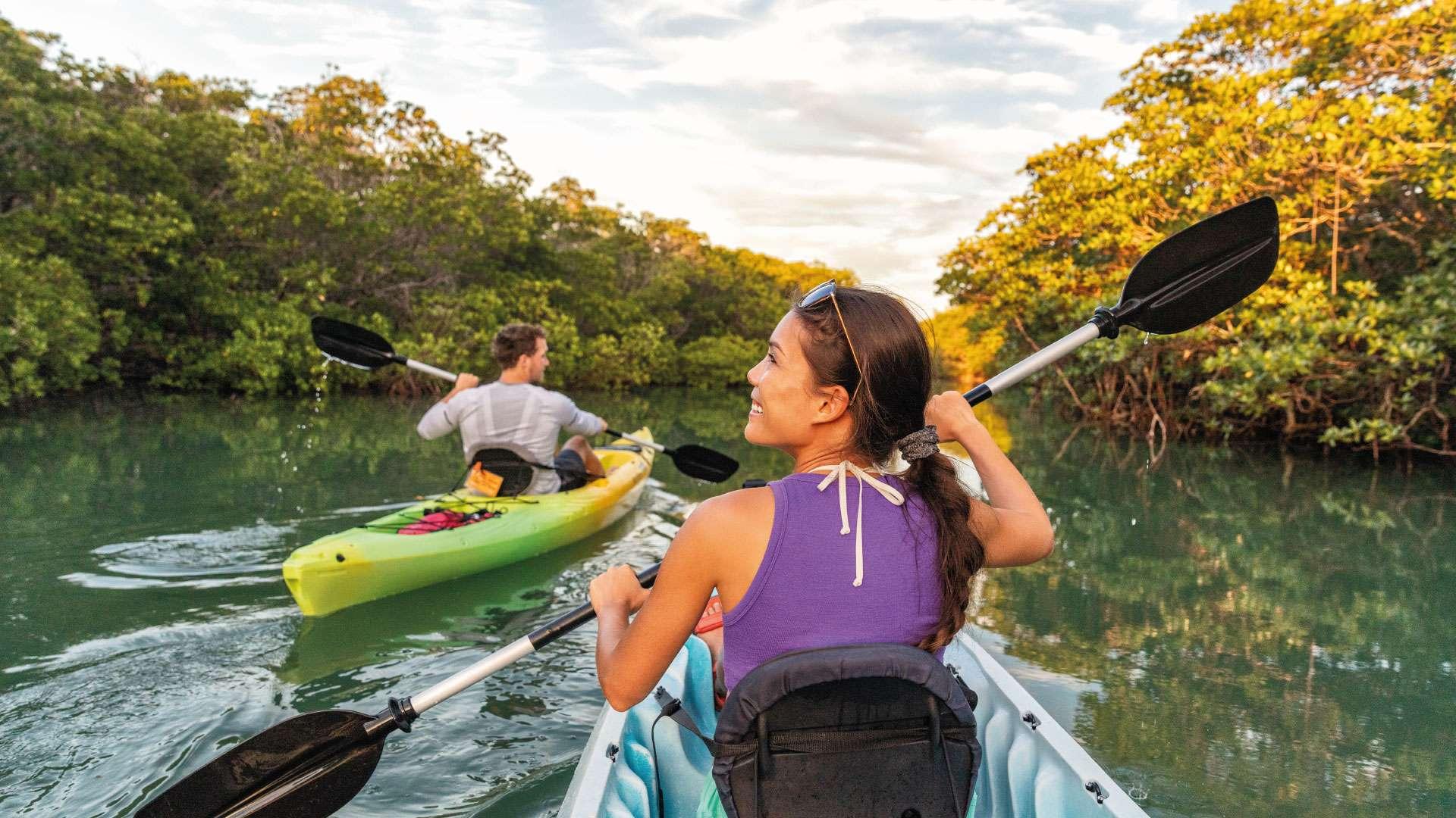 Kayak en Cancún y la Riviera Maya