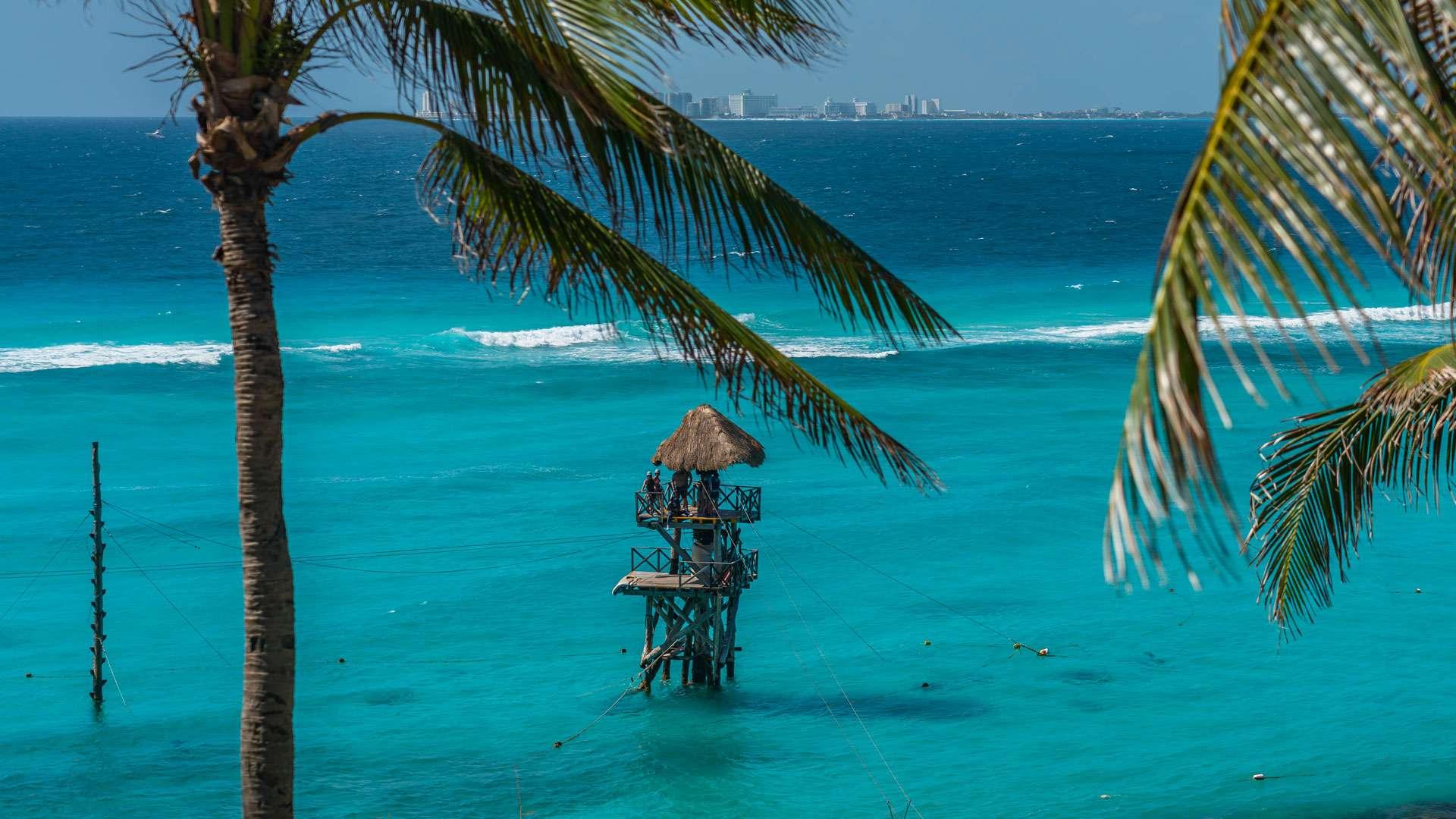 The Caribbean Sea in Cancun
