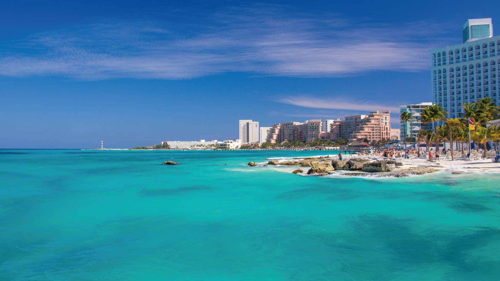 Playa Caracol en la zona hotelera de Cancún