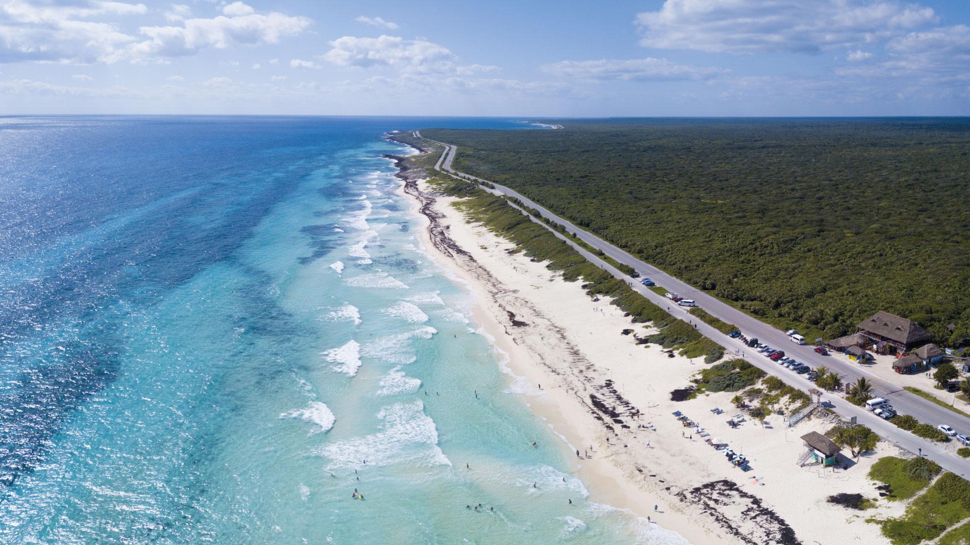 La costa de las isla Cozumel